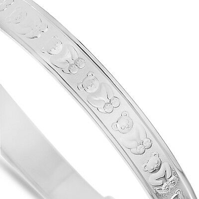 Solid Silver Girls Christening Bracelet Free Pink Gift Box Free Delivery