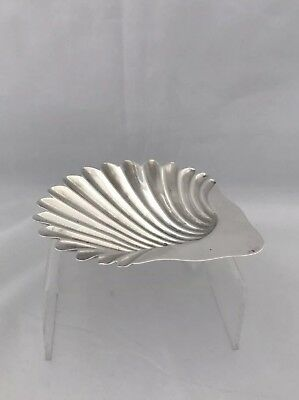 Victorian Solid Silver Butter Dish Shell 1894 London CAST FEET