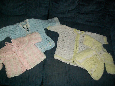 Vintage Crocheted Items for Babies or Lg Dolls...4 Pc