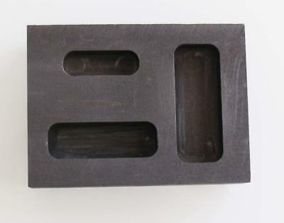 Graphite Ingot Mold 1/4 1/2 1 Ounce Gold Melting Casting Refining also silver