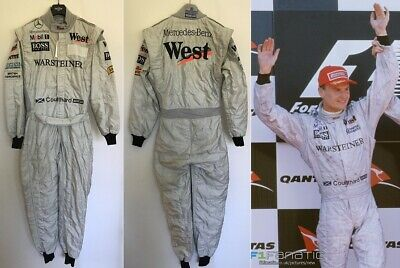 Race used suit 1998 David Coulthard West McLaren Mercedes F1