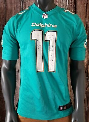 535d0616 MENS NFL FOOTBALL Miami Dolphins Mike Wallace #11 Jersey Sz: Small Nike On  Field