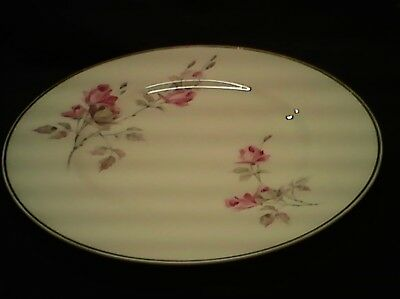 Crown Staffordshire Fine Bone China England salad Plate White with Pink Roses