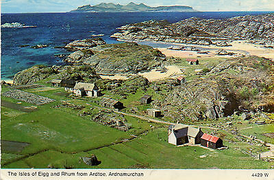 postcard  Scotland The Isle of Eigg & Rhum from Ardtoe Ardnamurchan  posted
