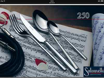 Salvinelli! Set Posate 72 Pz Inox 18/10 Mod 250 Made In Italy
