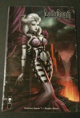 LADY DEATH Extinction Express #1 NAUGHTY Variant Cover Sabine Rich