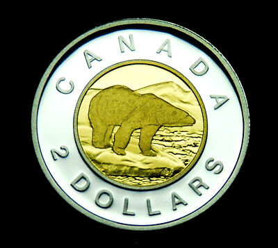 """2010 $2 proof """"toonie"""" - beautiful, uncirculated silver coin"""