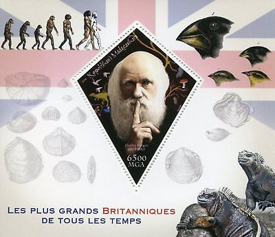 Madagascar 2018 MNH Famous Britons Charles Darwin 1v S/S Finches Science Stamps