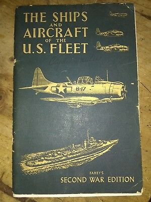 Vtg 1946 BOOK The SHIPS AND AIRCRAFT OF THE US FLEET Faheys Second War Edition