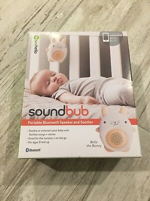 SoundBub Portable & Rechargeable Baby Sleep Sound Soother Bella the Bunny White