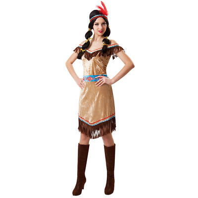 Woman's Sexy CHARMING INDIAN Halloween Costume Native Outfit Size OSFM Medium
