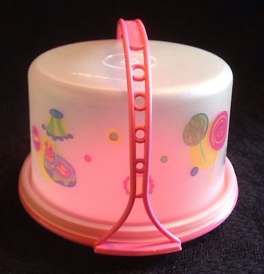 Kid's Play Food Tuppertoy Tupperware Cake Taker MINI Barbie Pink Party 🎉  NEW