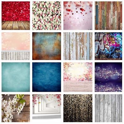 Multi-Type Vintage Photography Backdrops Glitter Heart Wood Plank Background US