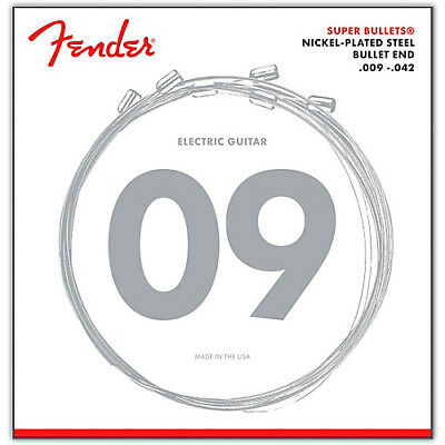 Fender 3250L Super Bullets Electric Guitar Strings 9-42 light gauge