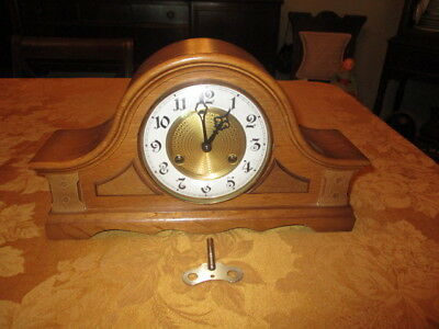 Old & Rare Franz Hermle Mantle Clock Model 150-010 Mint Condition