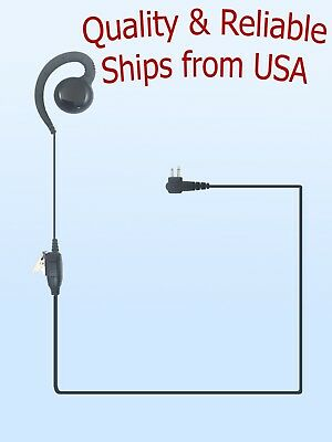 Swivel Radio Earpiece Headset Motorola HKLN4604 Alt. CP88 CP100 CP200 CLS 2-Pins