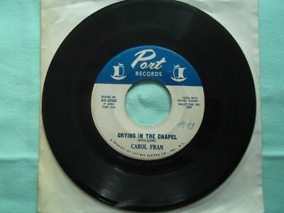 Carol Fran - crying in the chapel - Vinyl Single SOUL