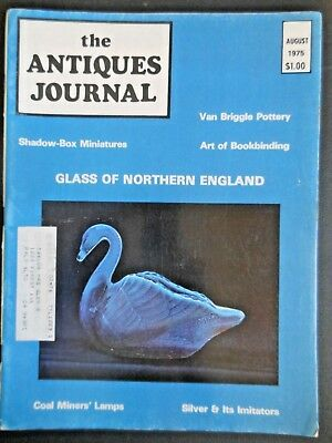 Antiques Journal 1975 Van Briggle Pottery Book Making Bookbinding Silver Plate