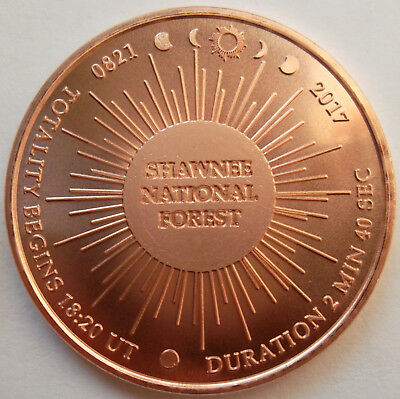 Shawnee National Forest / Eclipse Across America copper medal - very low mintage