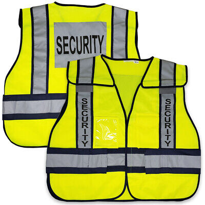 Viewbrite 5 Point  Breakaway Reflective Class 2 Security Vest Lime M-5XL