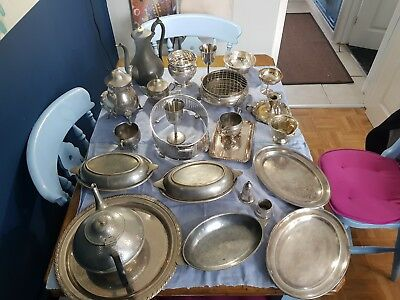 A Job Lot Of 23 Vintage Silver Plated Items.9 Kgs In Weight.