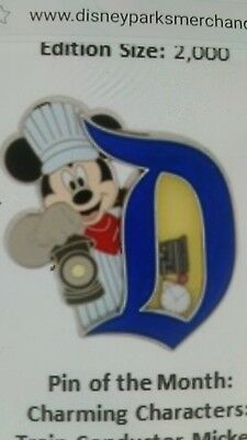 Disney Parks Charming characters Mickey Mouse train conductor mickey pin