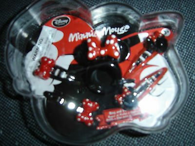 Disney Minnie Mouse Ring And Hair Clip Set In  Case New With Tags