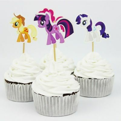 24pc My Little Pony Cake Cupcake Topper Handmade Party Decoration Birthday