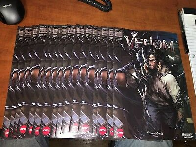 2 copies Venom 1 Movie AMC Marvel Custom Edition Comic Bag n Board High Grades!