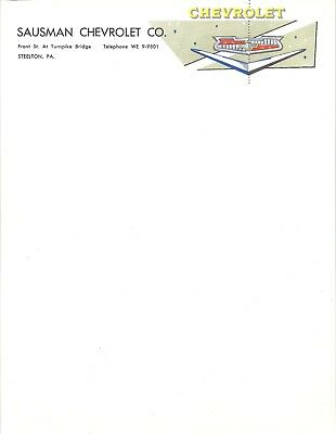 1956-57 Chevrolet Dealer Letterhead, 4 sheets