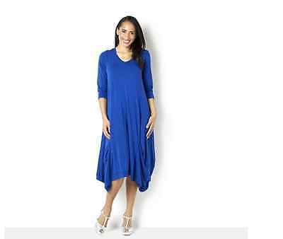Join Clothes Jersey Dress with Gathered Hem Detail Grecian Blue Medium BNWT