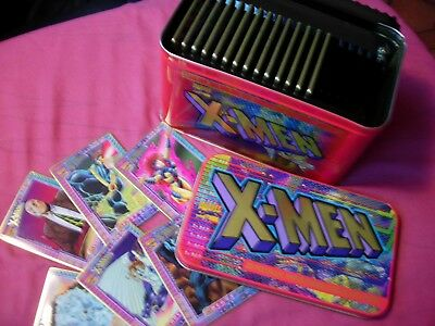 X-Men Marvel Metallic Impressions Collector cards X20 in Tin Limited Edition VFN