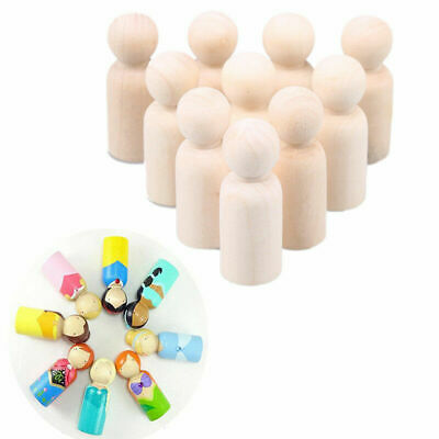 35//43//55//65mm Natural Wooden People Peg Dolls Wedding New H9N9 Toppers Toys S5V4