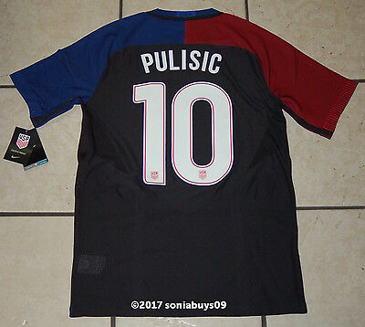 af11f105a NIKE MEN S PULISIC USA Away Player Issue Soccer Jersey