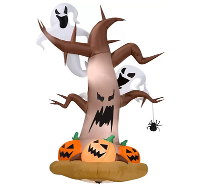 Dead Tree Self-Inflatable with Ghosts on Top and Pumpkins LG Halloween Decor