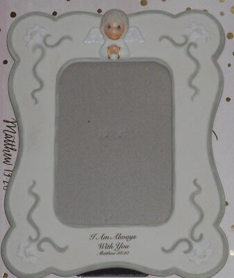 """Precious Moments Share The Gift Of Love Porcelain Photo Frame Holds 4""""x6"""" Pic"""