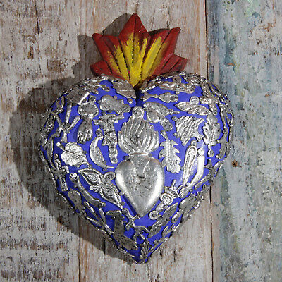 Mexican Milagro Heart Decoration Superior Large N