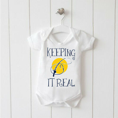 Keeping it Real Baby Vest Baby Grow 100% Cotton Boys Girls Bodys Cute