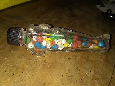S38 Vintage Th Stough Co Glass Candy Container Jar Bottle Airplane