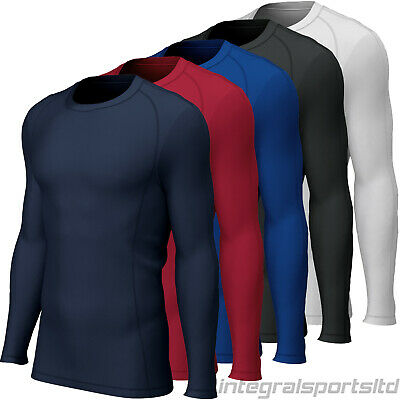 i-sports Base Layer Top Junior: Long Sleeve Compression Tops For Boys/Girls/Kids