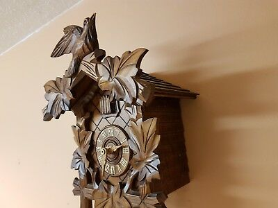 STUNNING BLACK FOREST 8day CUCKOO CLOCK / Fully Servised