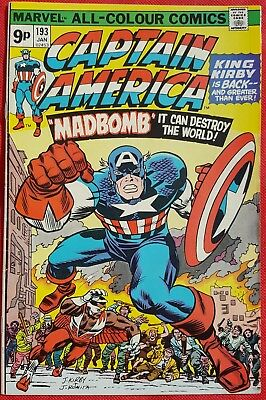 CAPTAIN AMERICA 193 Marvel 1976 Jack Kirby's second run on title begins
