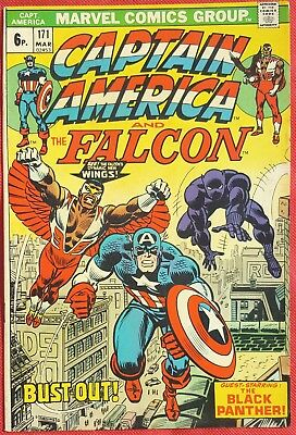 CAPTAIN AMERICA 171 Marvel 1974 Black Panther app Falcons New wings