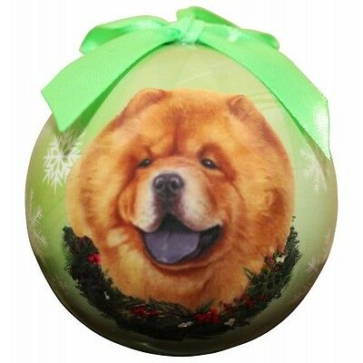 Chow Chow Shatterproof Ball Dog Christmas Ornament