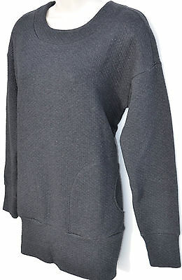 LACOSTE Women's Sweatshirt Dress GRAY Long Sleeves Size 4 NWT New MSRP $175
