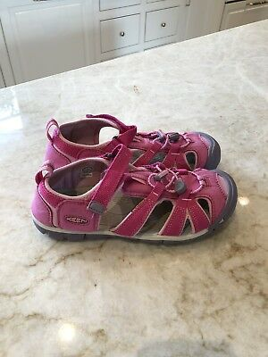 127e0bf49413 KEEN KIDS SEACAMP II CNX Sandals size US 2 Girls Youth Pink Blue ...