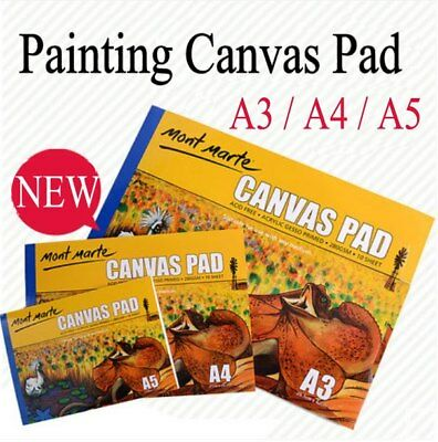 Monte Marte Canvas Pad ~Acrylic Gesso Primed ~ 280GSM ~ 10 Sheets ~ FREE POSTAGE
