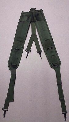 Mint US Military LC-1 2 ALICE Suspenders Web Belt Green Y Straps Load Bearing