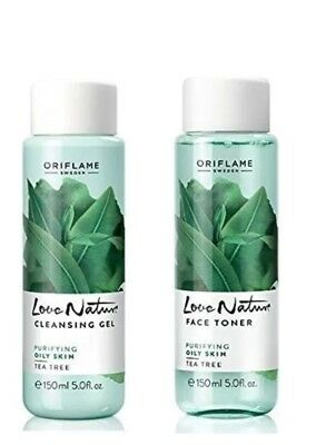 Tea Tree Face toner and Cleansing Gel - Love Nature by Oriflame