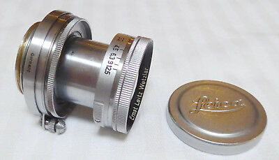 Leica Leitz Summitar Screw Mount Lens 50 mm 1:2 S/N 604031 Sold as Wetzlar